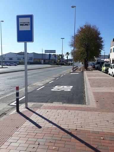 Parada de autobus hasta Sorihuela de Guadalimar